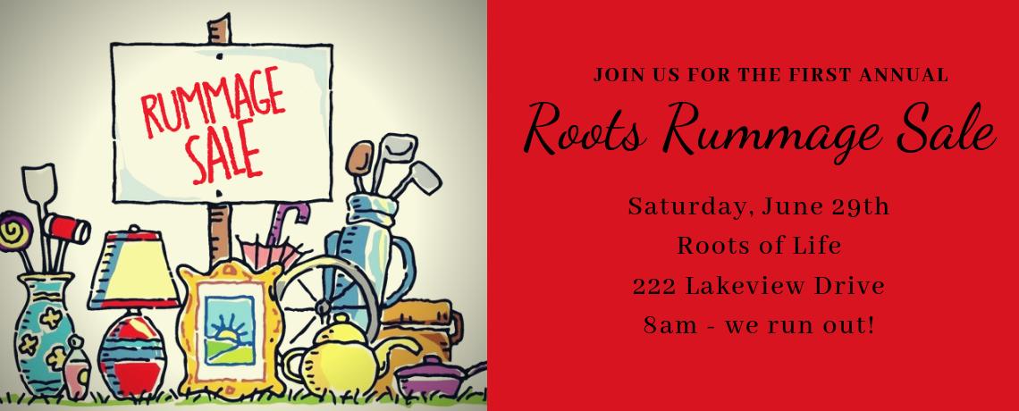 Roots Rummage Sale